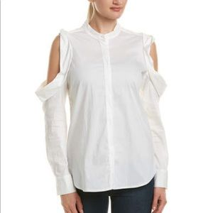 Bishop + Young Cuffed Cold Shoulder Button Down